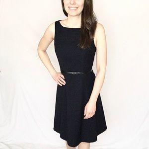 $15 SALE! H&M   Navy Dress w/White Micro Polkadot